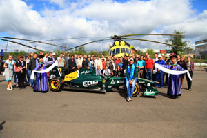 24.08.2012 Russian F1 driver Vitaly Petrov visits capital of Buryatia